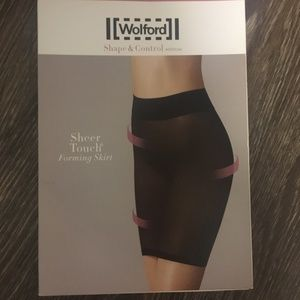 Wolford Sheer Touch Forming Skirt in Graphite